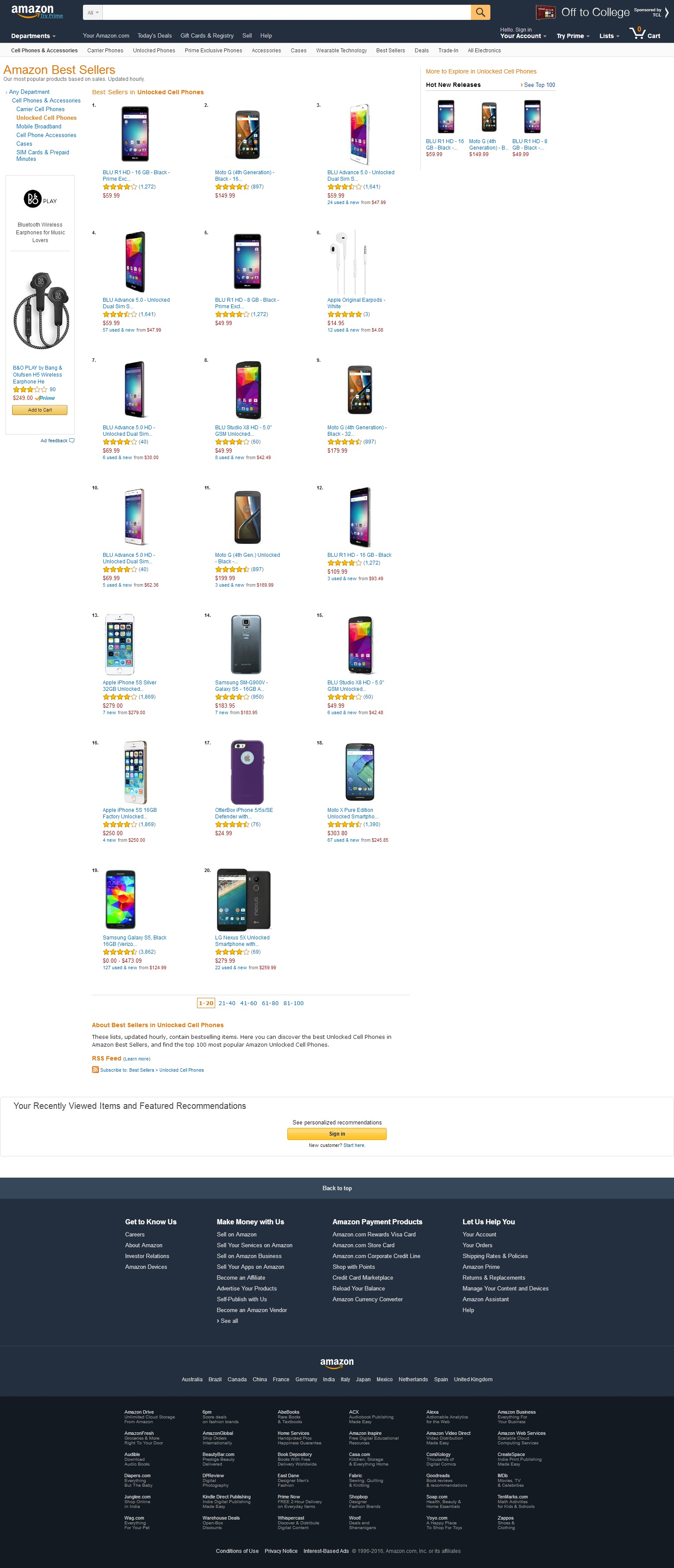 Amazon Best Sellers Best Unlocked Cell Phones